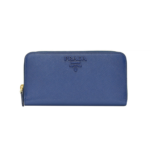 Bluette Saffiano Shine Zip Around Wallet - 4 (Rented Out)