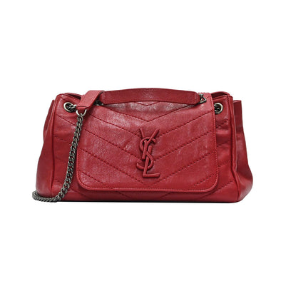 Red Chevron Leather Nolita Shoulder Bag (Rented Out)
