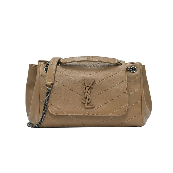 Taupe Chevron Leather Nolita Shoulder Bag (Rented Out)
