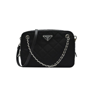 Nero Quilted Tessuto 2Way Camera Bag - 2