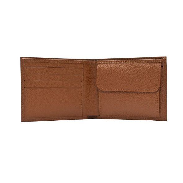 Caramel Le Foulonne Bifold Wallet with Coin Pocket