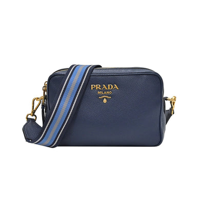 Bluette Double Strap Vitello Daino Shoulder Bag