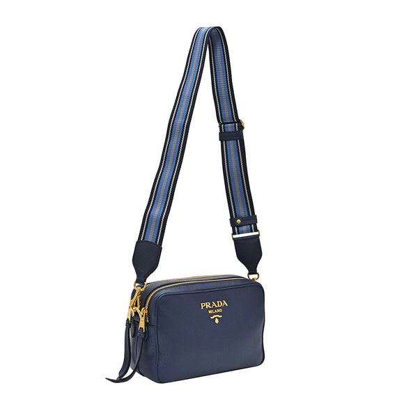 Bluette Double Strap Vitello Daino Bag