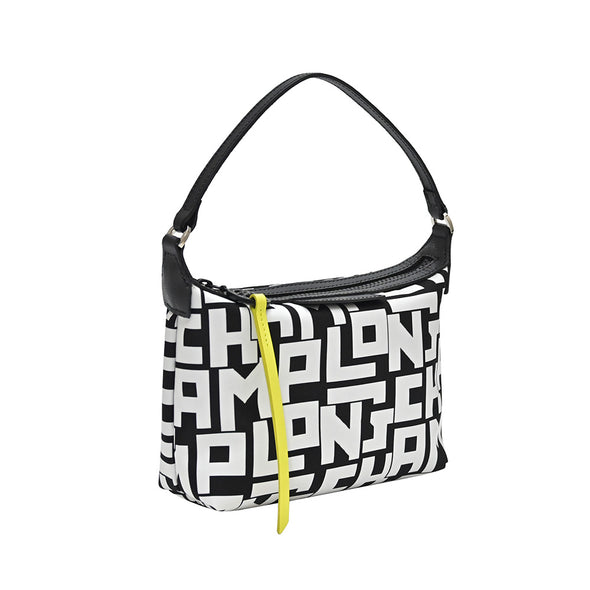 Black White Le Pliage LGP Mini Shoulder Bag