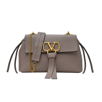 Poudre Vsling Grained Leather Crossbody Chain Bag (Rented Out)