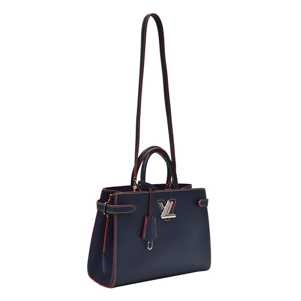 Indigo Epi Leather Twist Tote (Rented Out)