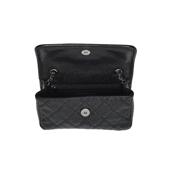 Black Caviar Quilted Mini Flap Bag (1+1 Promotion)