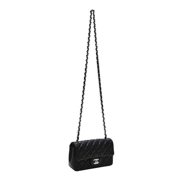 Black Nappa Mini Flap Bag (Rented Out)