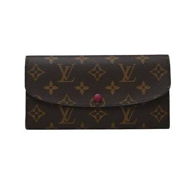 Fuchsia Monogram Canvas Emilie Wallet (Rented Out)