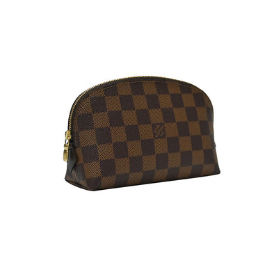 Damier Ebene Canvas Cosmetic Pouch (Rented Out)