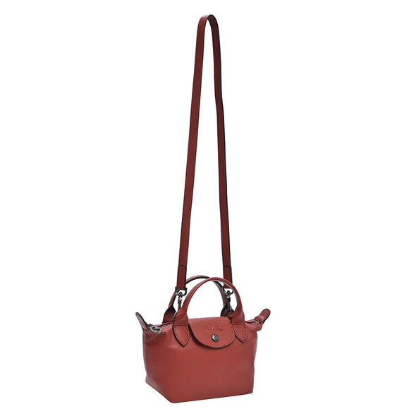 Sienna Le Pliage Cuir Mini Top Handle (20% Off Rental)