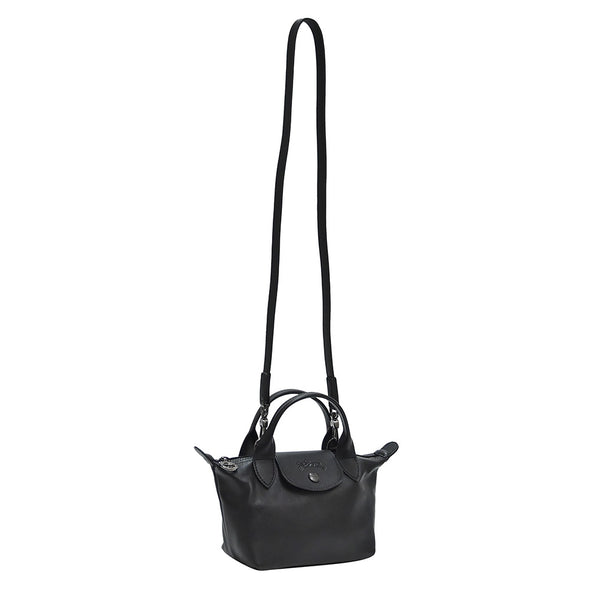 Black Le Pliage Cuir Mini Top Handle (Rented Out)