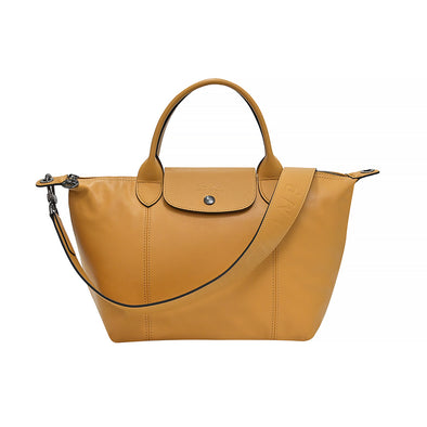 Honey Le Pliage Cuir Shopping Tote (Logo Strap)