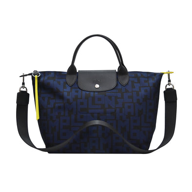 Black Navy Le Pliage LGP Top Handle M