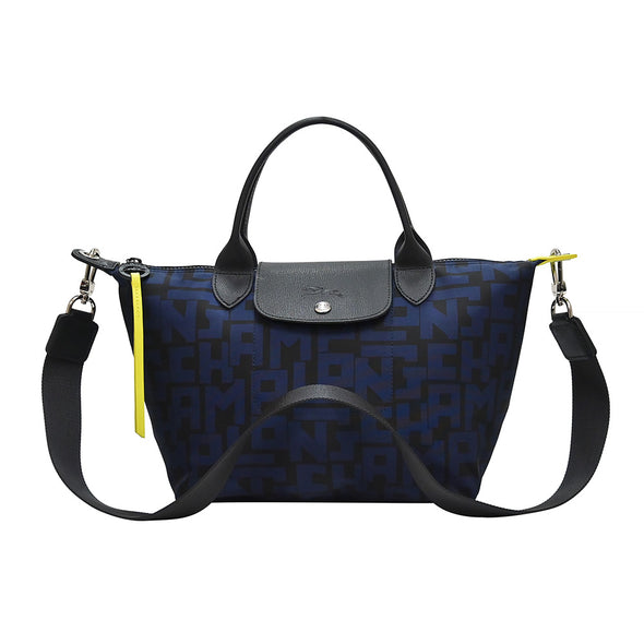 Black Navy Le Pliage LGP Top Handle S
