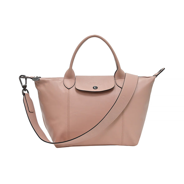 Poudre Le Pliage Cuir Shopping Tote (Logo Strap) (Rented Out)