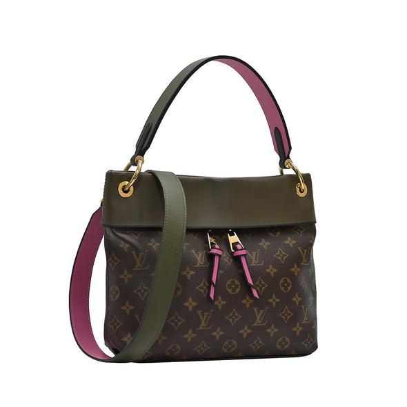 Khaki Tuileries Basace Monogram Canvas Shoulder Bag (Rented Out)