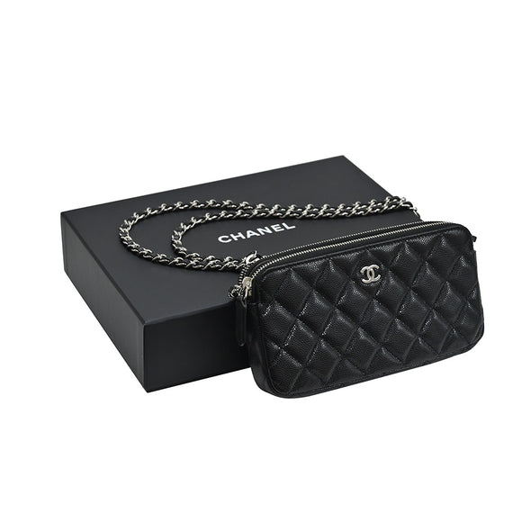 Black Caviar Clutch With Chain (Rented Out)