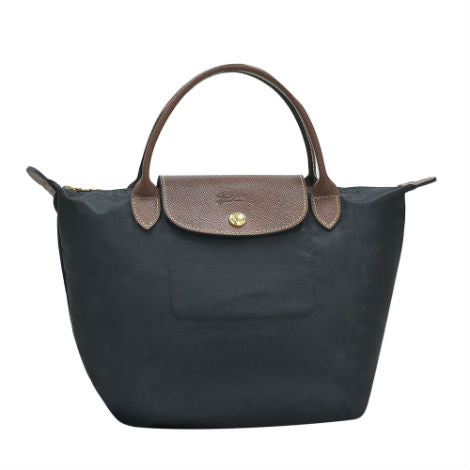 Noir Le Pliage Small Handbag (Short Handle)