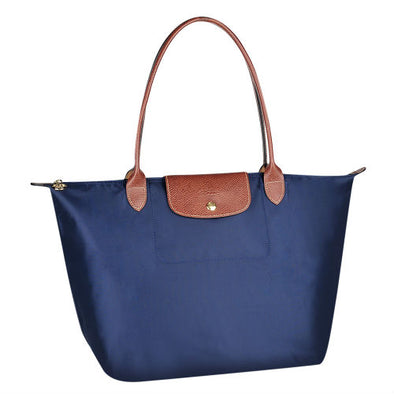 Navy Le Pliage Large Tote Bag