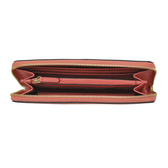 PinkGrapefruit Zip Around Saffiano Leather Wallet