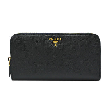 Nero Saffiano Metal Zip Around Wallet - 5
