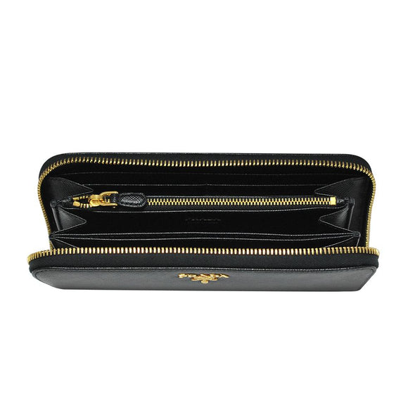 Nero Saffiano Metal Zip Around Wallet - 3 (Rented Out)