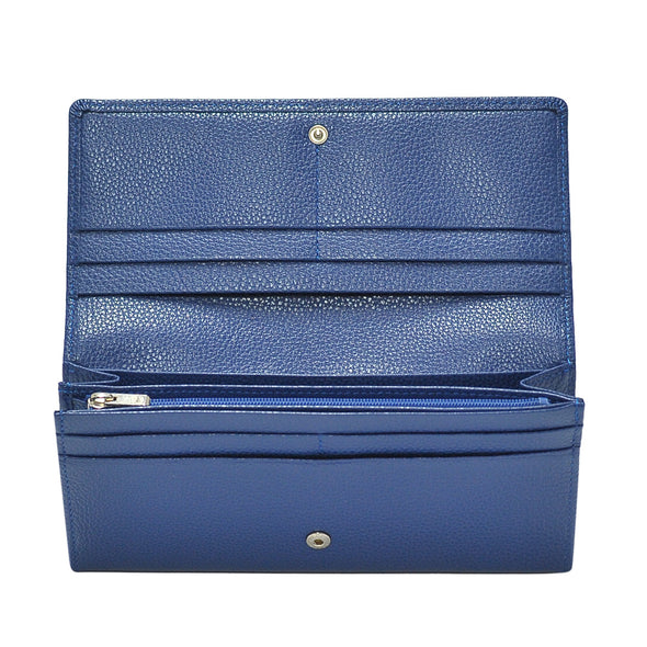 Bleu Le Foulonne Long Flap Wallet