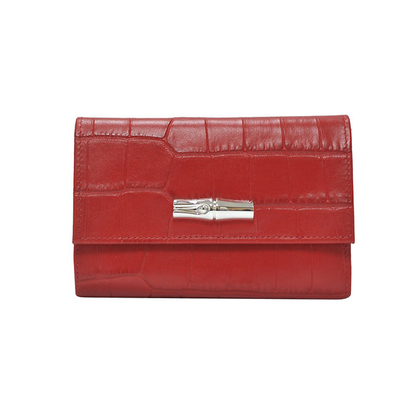 Rouge Roseau Croco Medium Continental Wallet