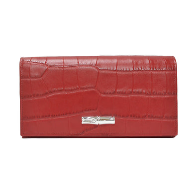Rouge Roseau Croco Continental Wallet