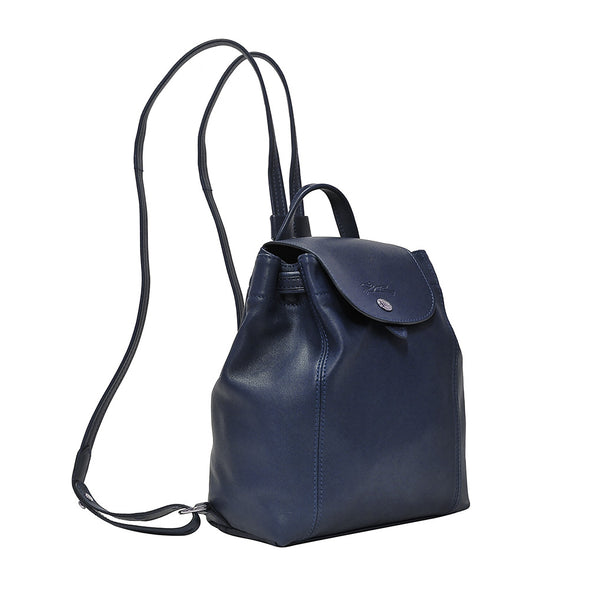 Navy Le Pliage Cuir Backpack XS