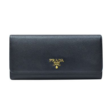 Nero Saffiano Metal Continental Wallet