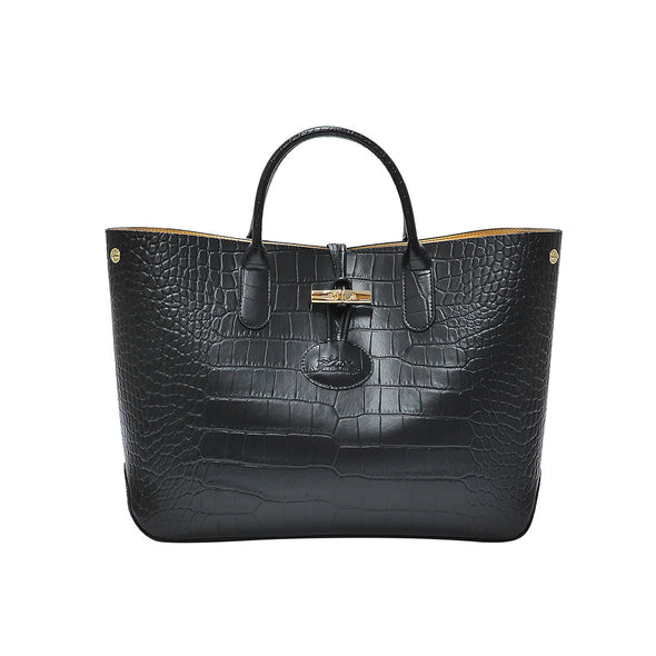 Noir Roseau Croco Tote (Rent Out)