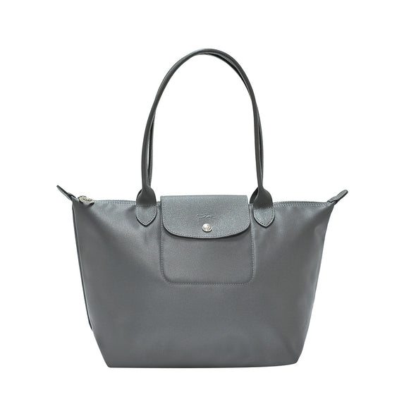 Grey Le Pliage Neo Tote Bag S