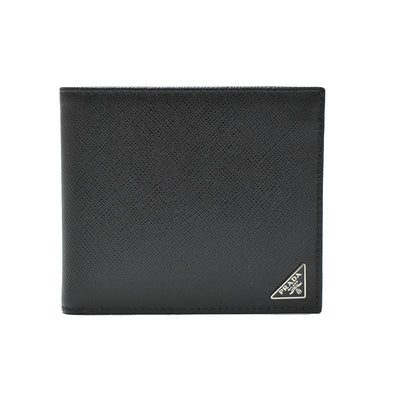 Nero Saffiano Triangle Mens Bifold Wallet