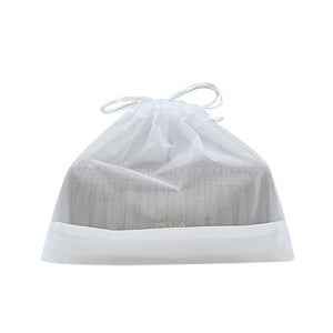White Sheer Fabric Wallet Dustbag