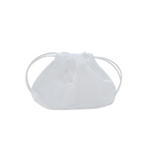 White Sheer Fabric Jewellery Pouches (Pack of 5)