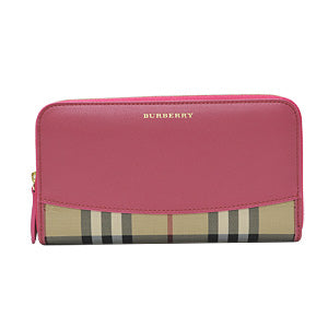 Crimson Pink Horseferry Check Zip Around Wallet