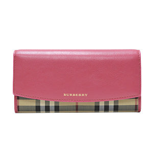 Crimson Pink Horseferry Check Continental Wallet (Rented Out)
