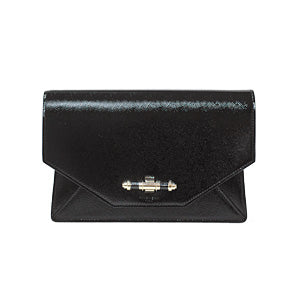 Black Patent Calfskin Leather Obsedia Clutch