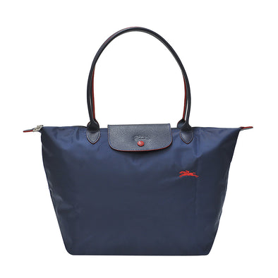 Navy Le Pliage Club Tote Bag L