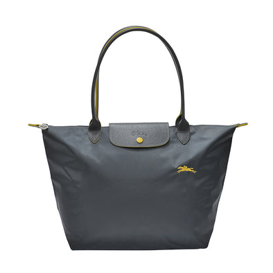 Gun Metal Le Pliage Club Tote Bag L