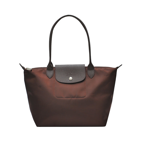 Chocolate Le Pliage Neo Tote Bag S