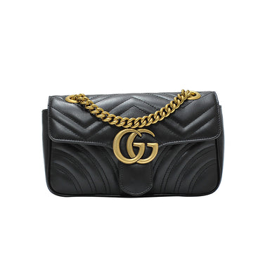 Nero GG Marmont Mini Matelasse Shoulder Bag (20% Rental Promotion) (Rented Out)