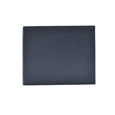 Navy Le Foulonne Bifold Wallet with Coin Pocket