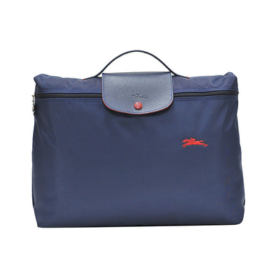 Navy Le Pliage Club Document Holder