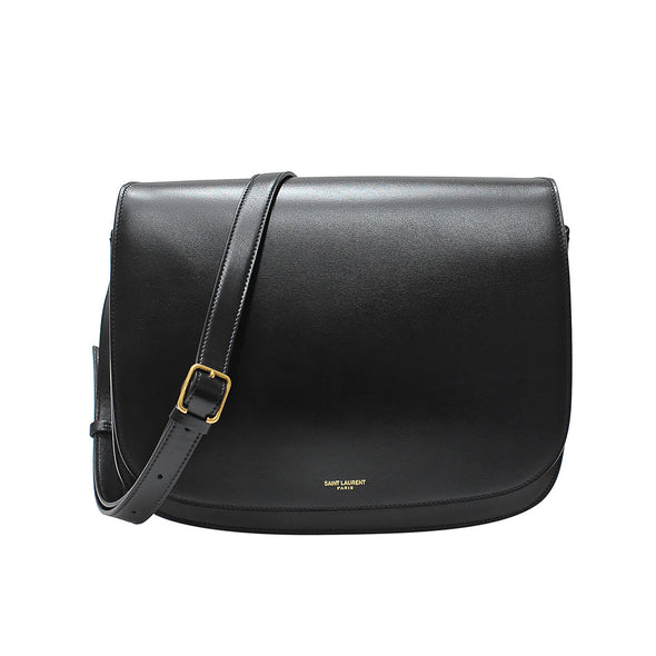 Black Chiara Leather Shoulder Bag
