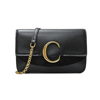 Black Chloe C Clutch With Chain (Rented Out)