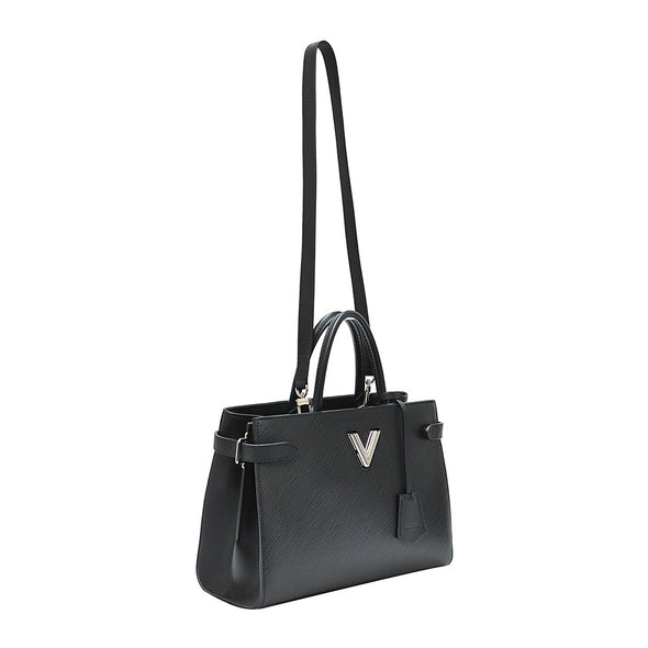 Black Epi Leather Twist Tote (Rented Out)