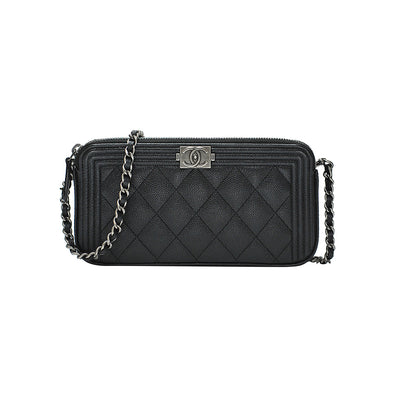 Black Boy Chanel Clutch With Gunmetal Chain (Rented Out)